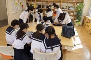 土佐女子中学校、県庁見学